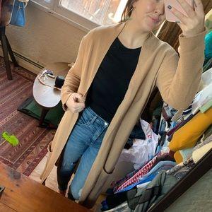 Small Kaos Tan Duster Cardigan